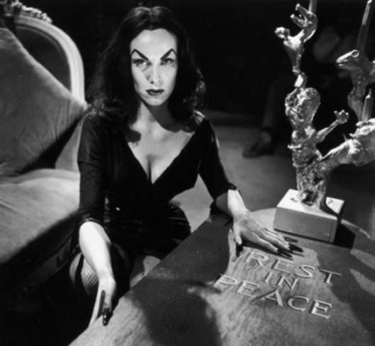The late Vampira haunts Tomb's Jukebox