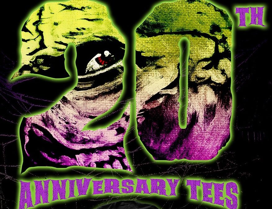 New! Rue Morgue's 20th Anniversary Tees