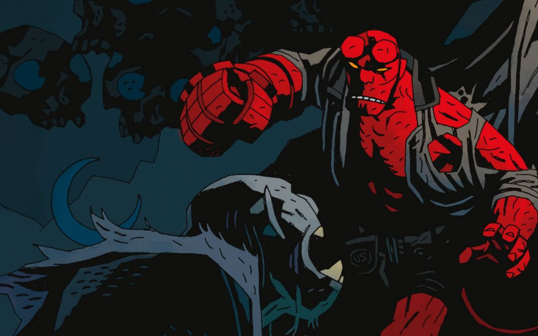 THE ART OF MIKE MIGNOLA: HELLBOY TAKES A BITE OUT OF THE BIG APPLE!