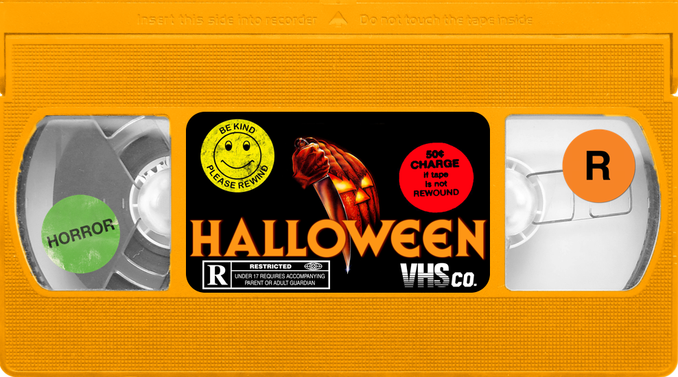"Keep it retro with these horror movie ""VIDEO VINYL STICKERS"