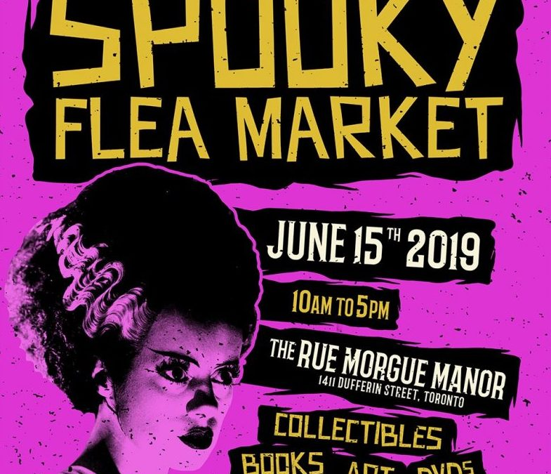 "Join us this month for the 3rd Annual ""SPOOKY FLEA MARKET"""