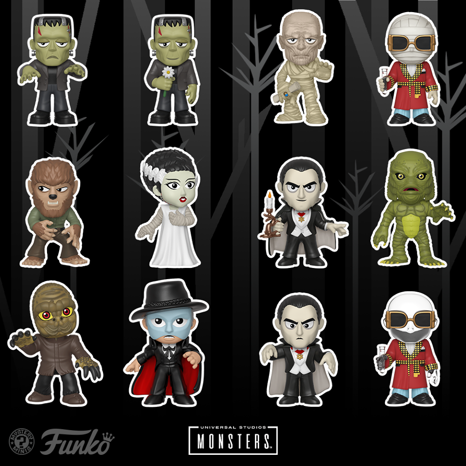 "Funko Reveals Its Line Of ""Universal Monsters Mystery Minis"" Coming Soon 