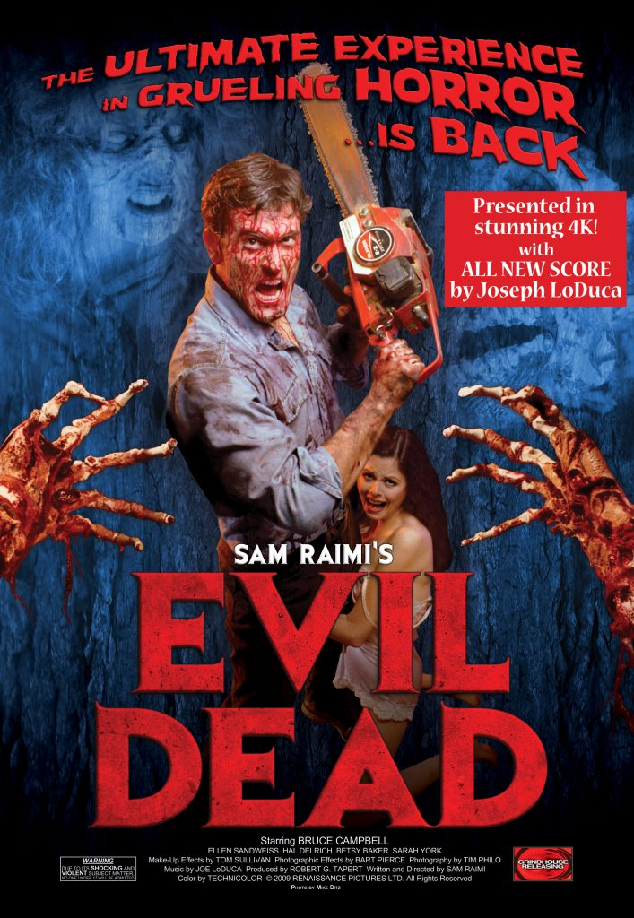 """4K """"EVIL DEAD"""" is coming to terrorize you this fall; complete theater lineup 