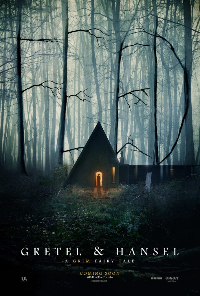 "There's an eerie light in the dark woods in ""GRETEL & HANSEL"" teaser poster"