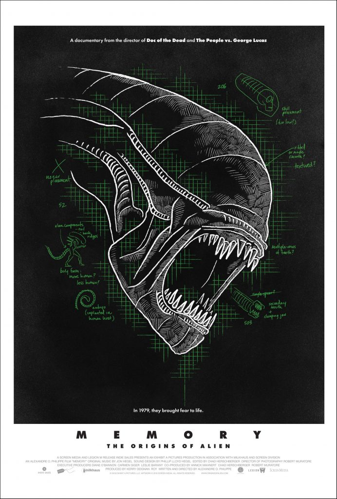 "Fan-voted poster for ""MEMORY: THE ORIGINS OF ALIEN"" bursts out 