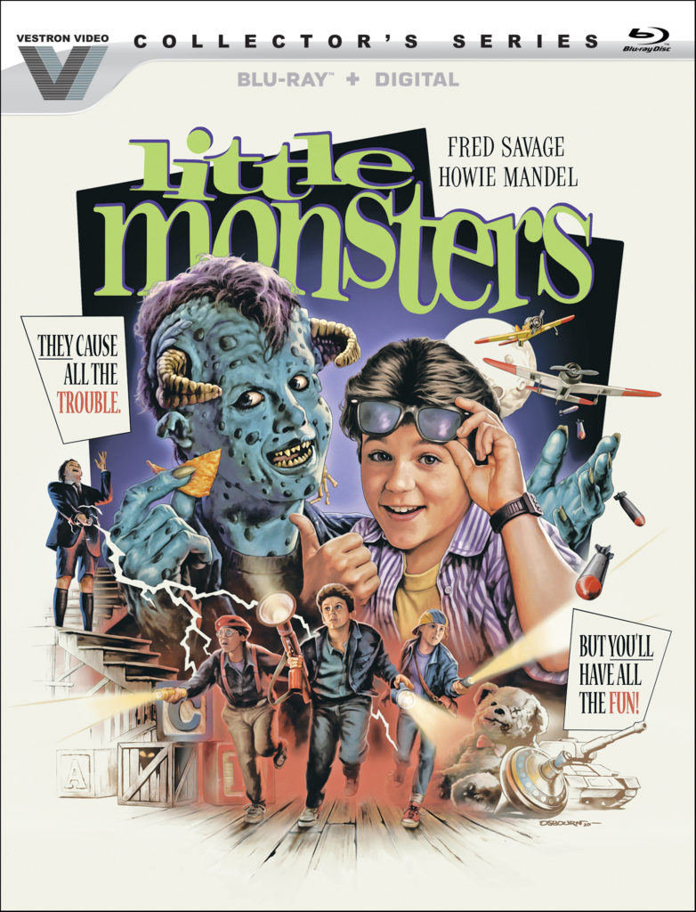 "Kids' creature feature ""LITTLE MONSTERS"" coming to Blu-ray on Lionsgate's Vestron line; details & art 