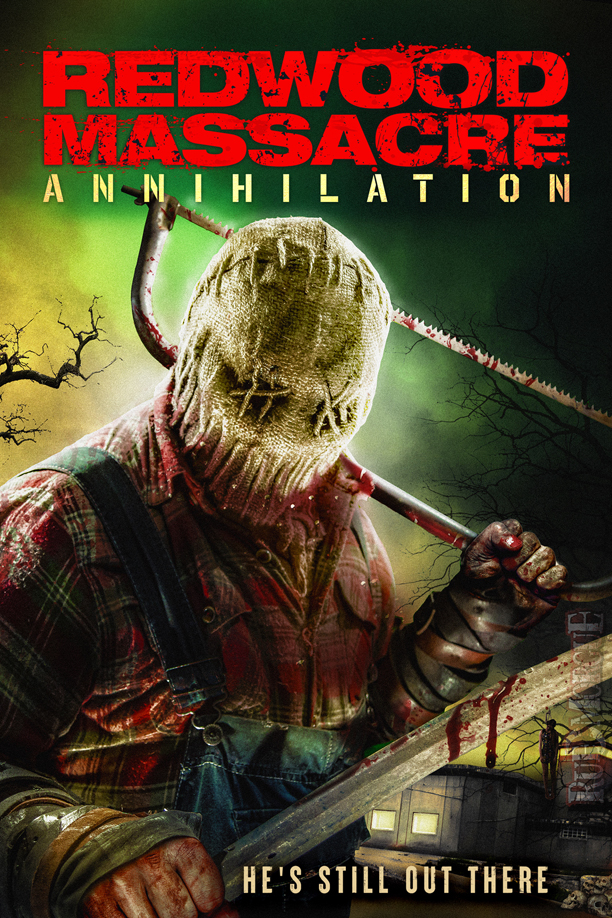 """Exclusive trailer and poster: Danielle Harris goes on a maniac hunt in """"REDWOOD MASSACRE: ANNIHILATION""""   Rue Morgue"""